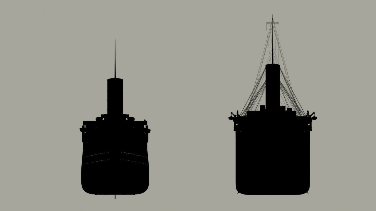 Сравнение Титаника с другими судами9
