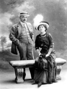 Милтон Снэйвели Херши с женой