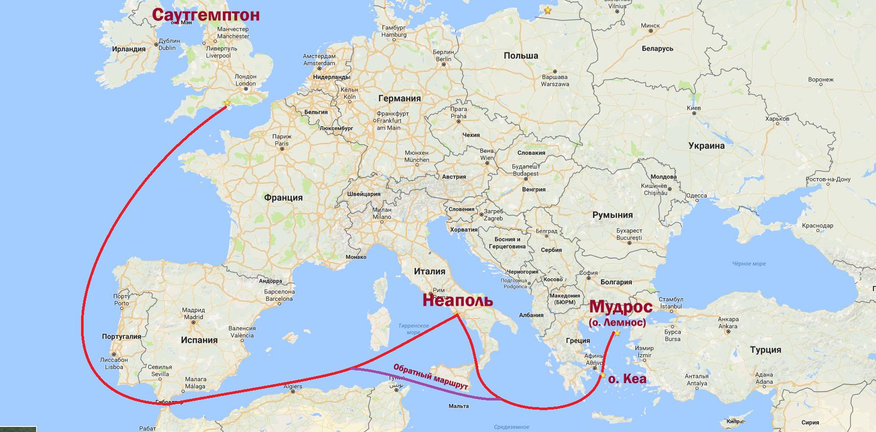 Британник карта