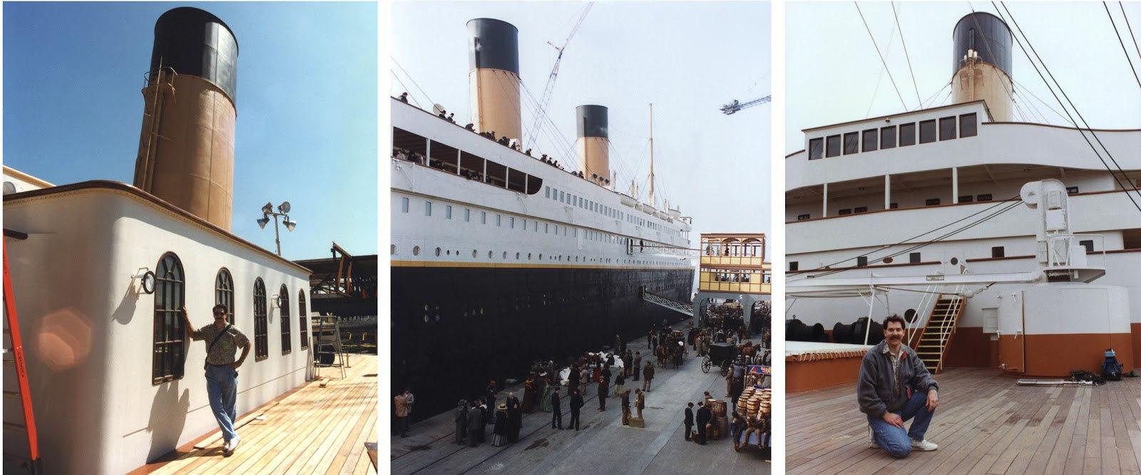 "Кен Маршалл на съёмочной площадке ""Титаника""."