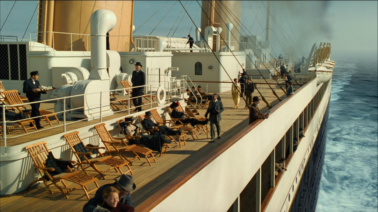 "Кадр из фильма ""Титаник""."