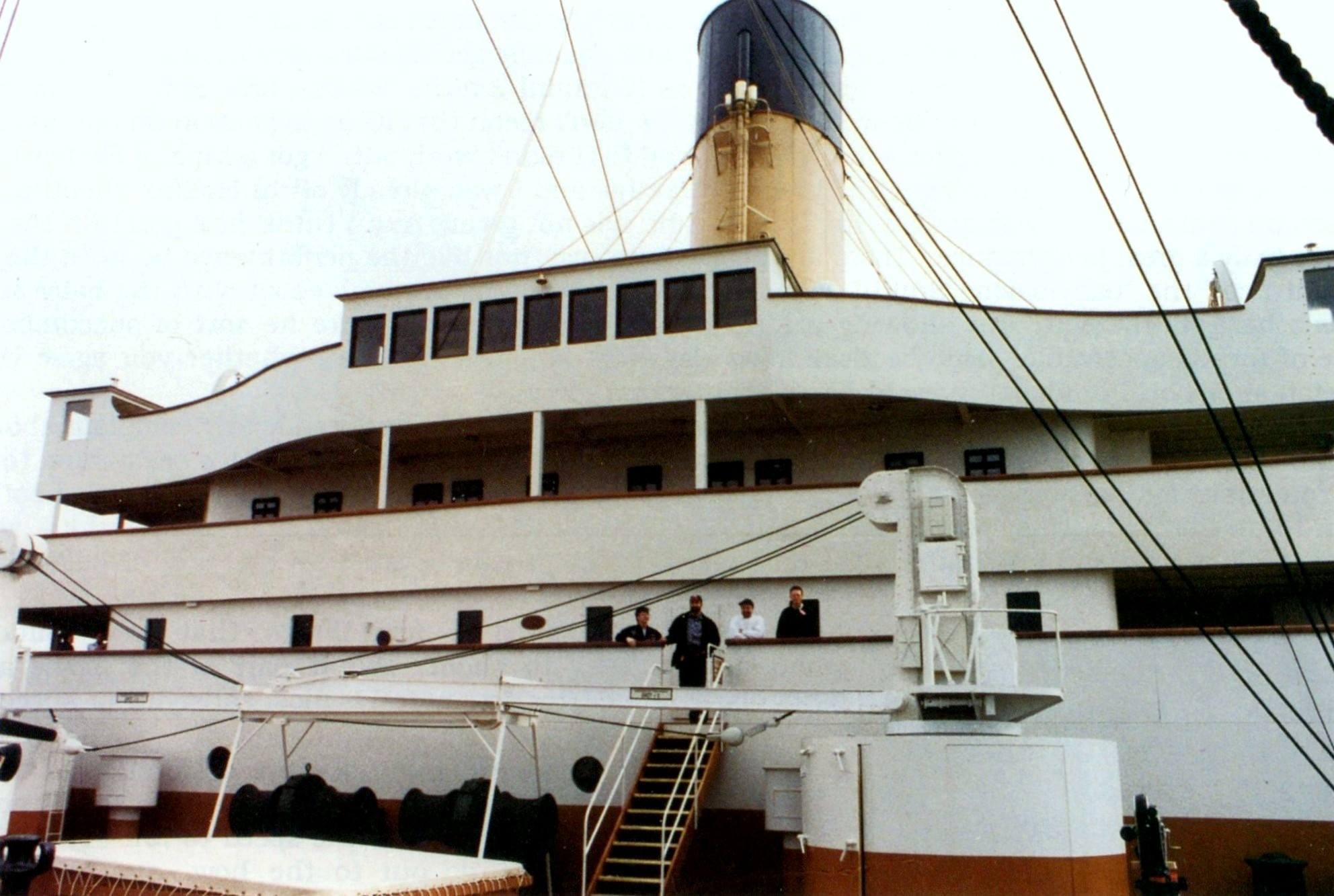 "Дон Линч на съёмочной площадке ""Титаника""."