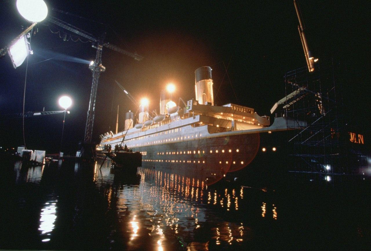 Освещение Титаника для фильма.