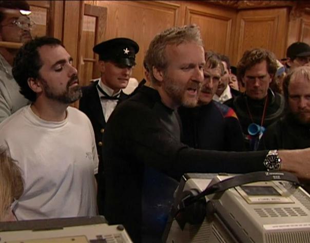 """Джеймс на съёмках """"Титаника""""."""