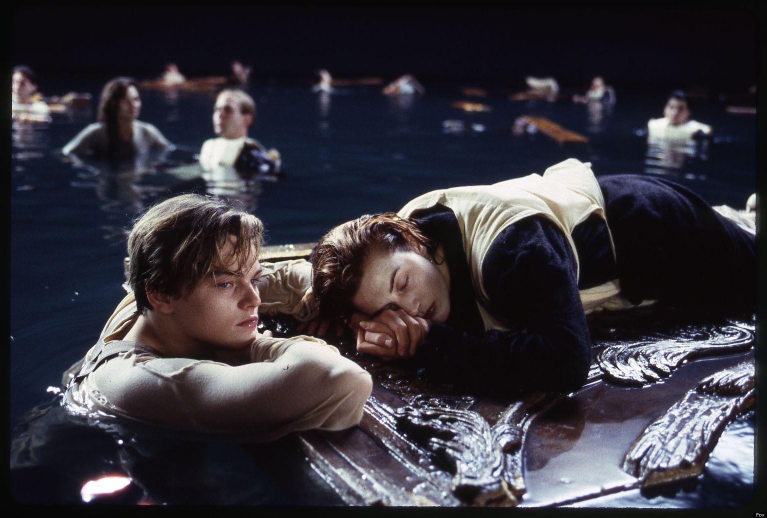 Лео и Кейт в съёмках финальной сцены.