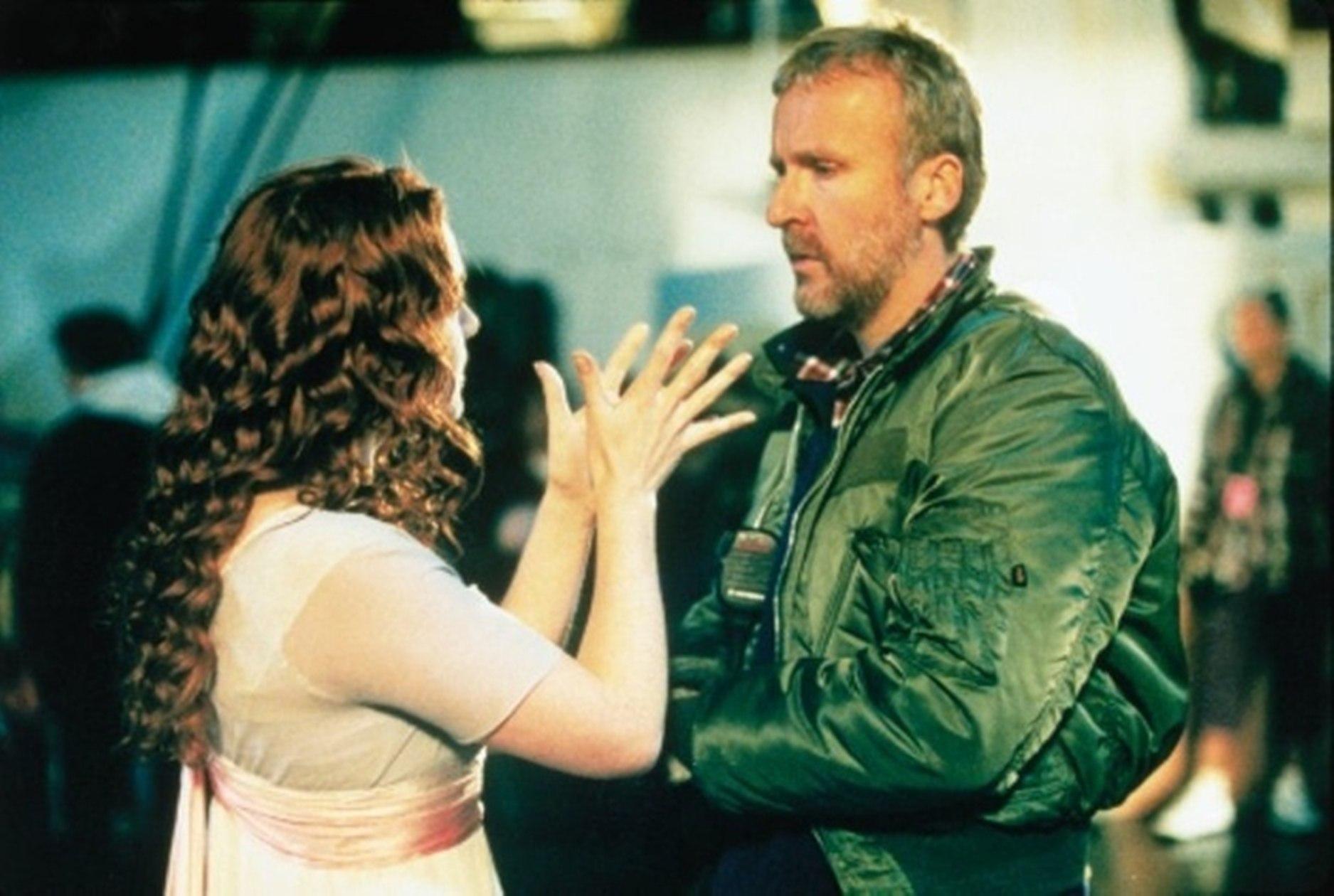 """Кейт и Джим на съёмках """"Титаника""""."""