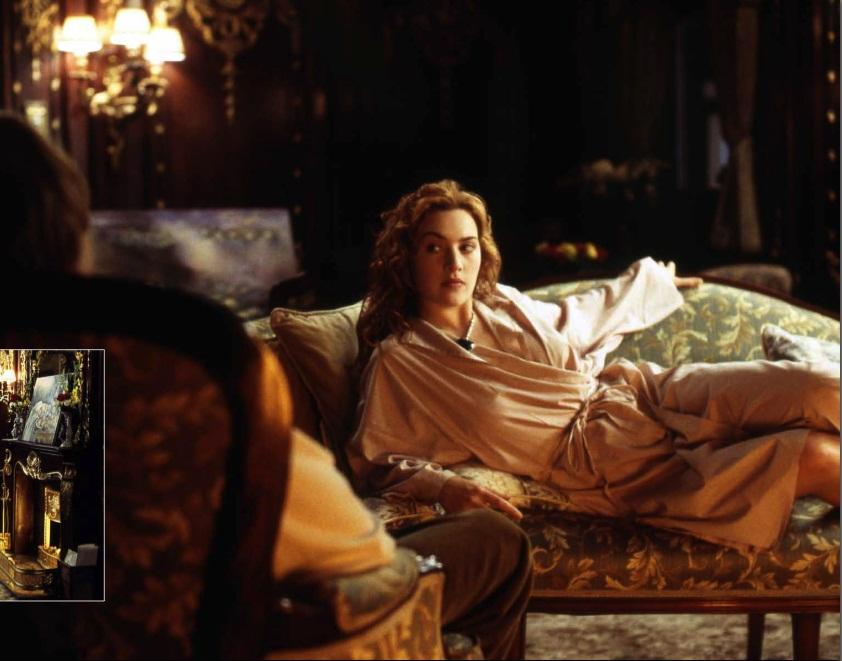 """Кейт Уинслет в репетиции 1 сцены к """"Титанику""""."""