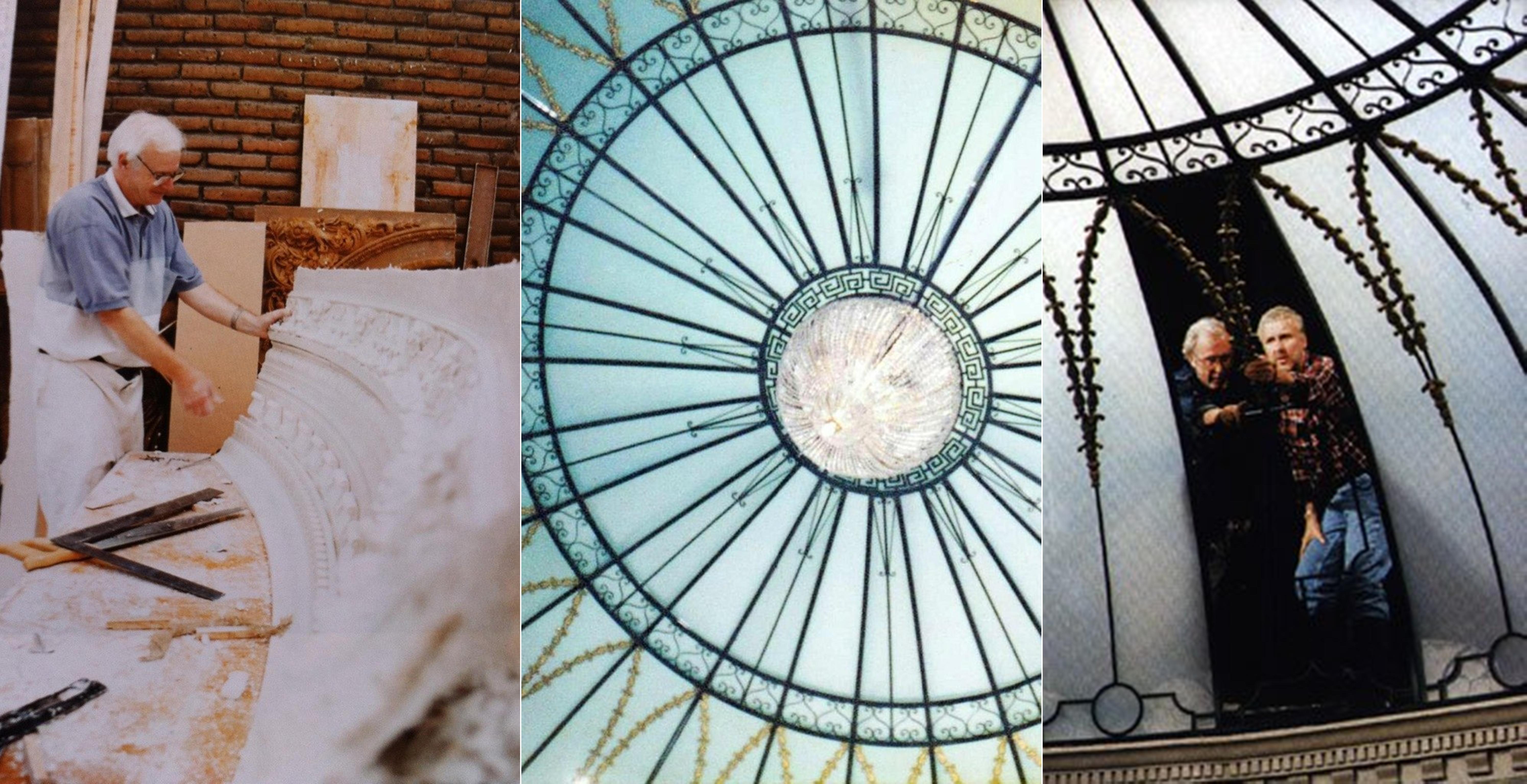 Создание лепнины для застеклённого купола центральной лестницы.