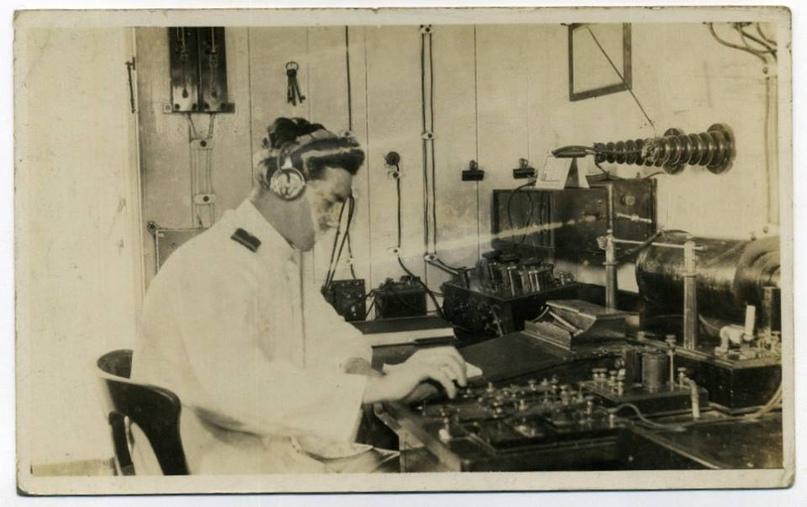 Открытка с изображением радиорубки «Калифорниэна»