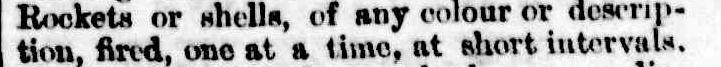 """Цитата из газеты """"Bowral Free Press"""" (1889 г.) с описанием цвета сигнальных ракет"""