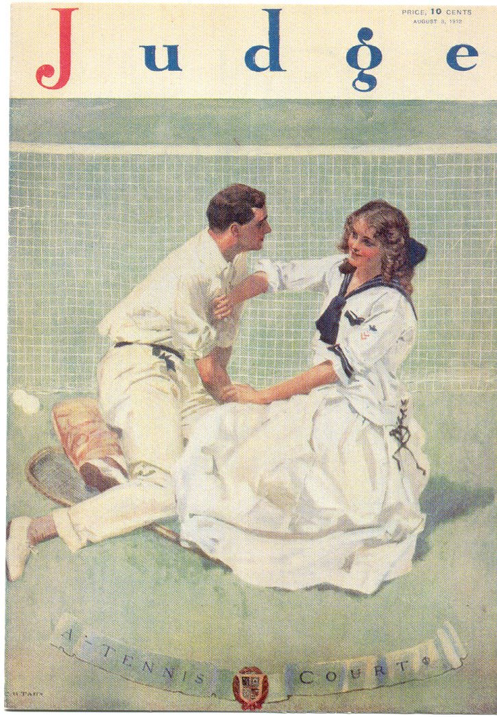 Speaking of how persistent Karl Behr was, here is a magazine cover from August of 1912. I'm convinced Karl and Helen were the inspiration for it.